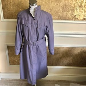 London Fog purple long trench coat . Size 10